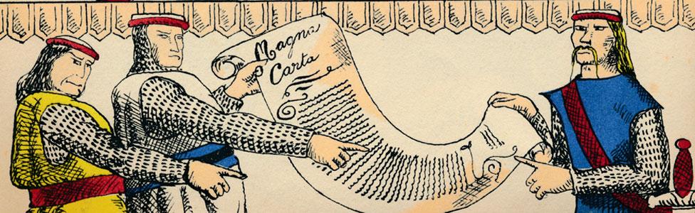 Barones con la carta magna
