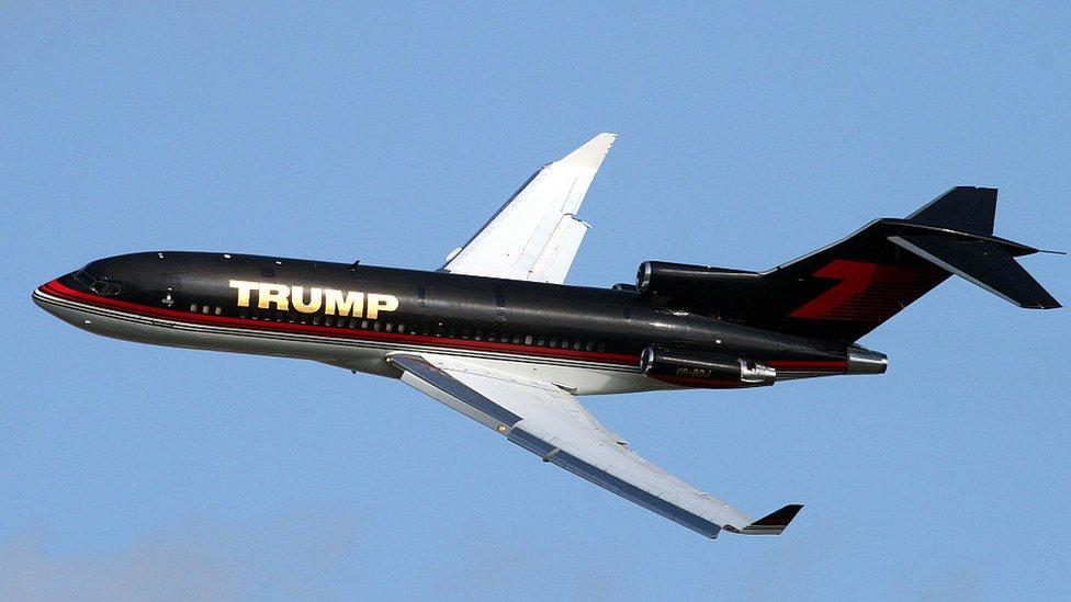 El avión Boeing 727 de Donald Trump