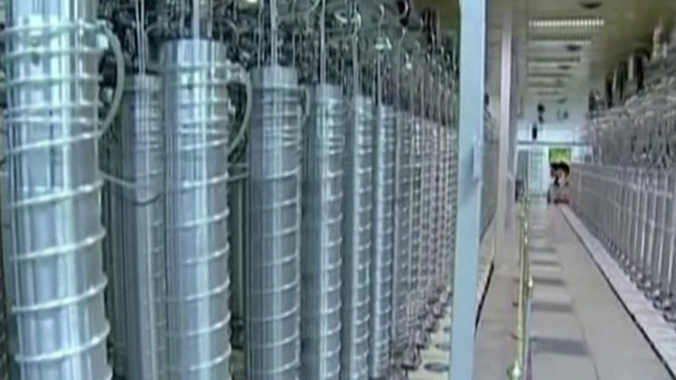 Banks of centrifuges at Iran's Natanz nuclear plant