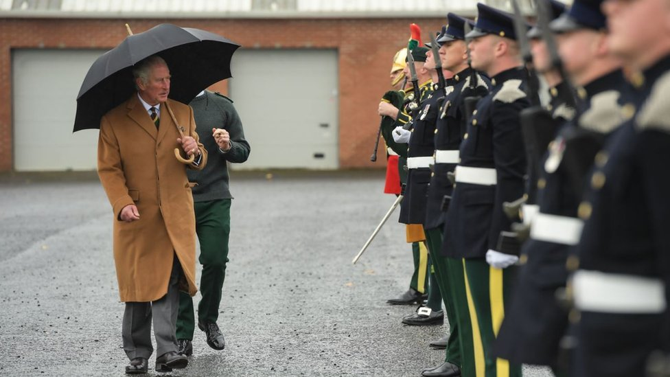 Prince Charles at Catterick Garrison
