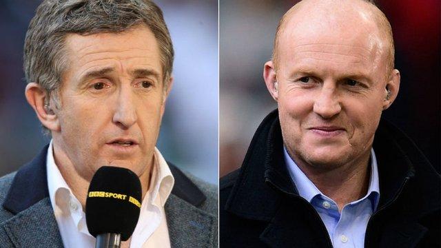 Jonathan Davies and Martyn Williams