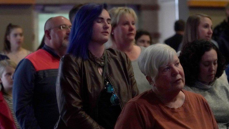 Ceremonia de recuerdo de las víctimas de Columbine en Littleton, Colorado, e 18 de abril de 2019