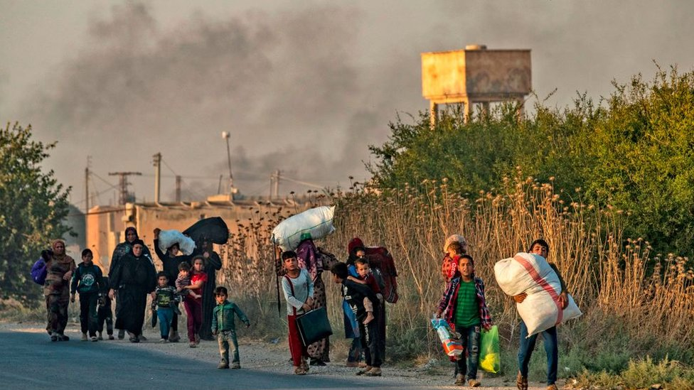Desplazados de la incursión turca