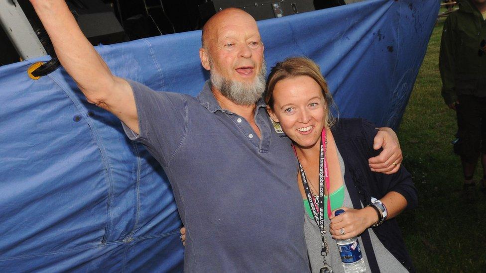 Festival organisers Michael Eavis and daughter Emily