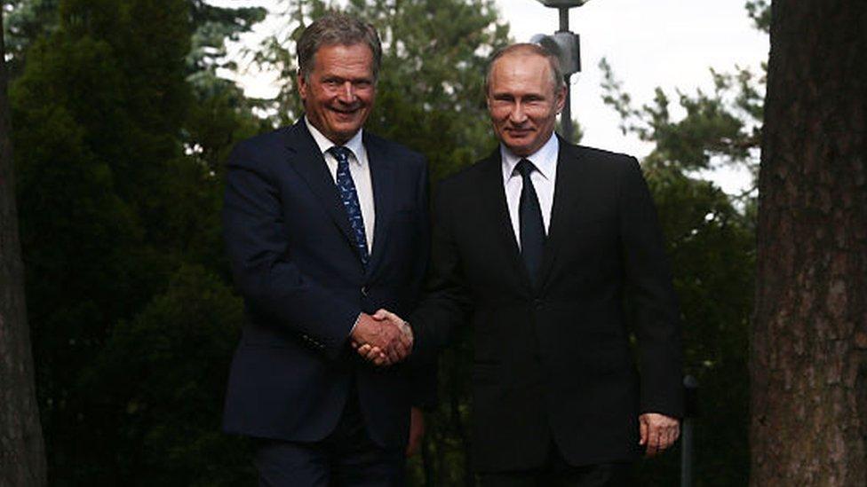 Sauli Niinisto y Vladimir Putin.