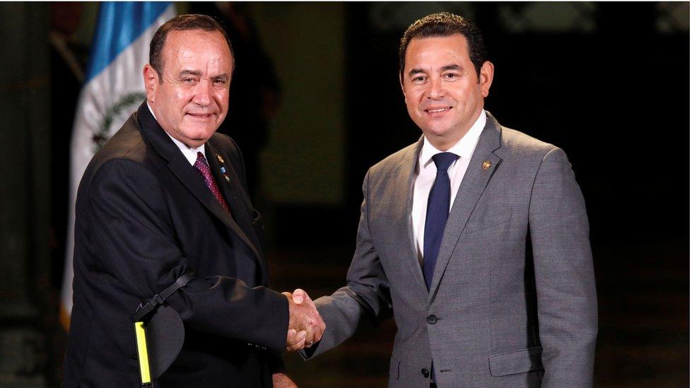 Alejandro Giammattei y Jimmy Morales