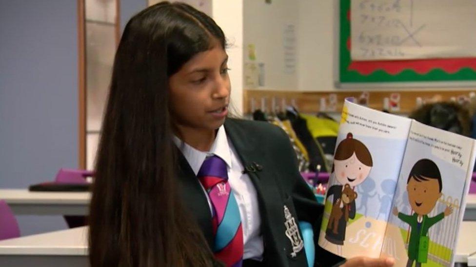 A schoolgirl has written a book to explain autism