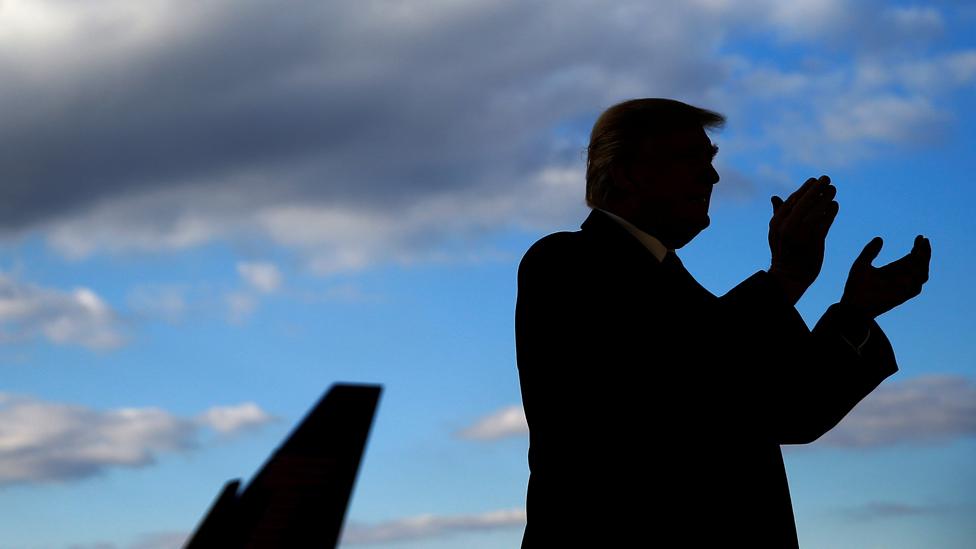 Republican presidential nominee Donald Trump attends a campaign event in Wilmington, Ohio, U.S. November 4, 2016