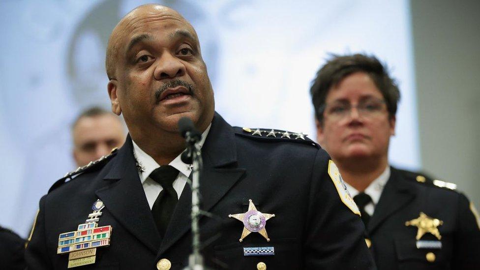 El superintendente de la policía de Chicago, Eddie Johnson.