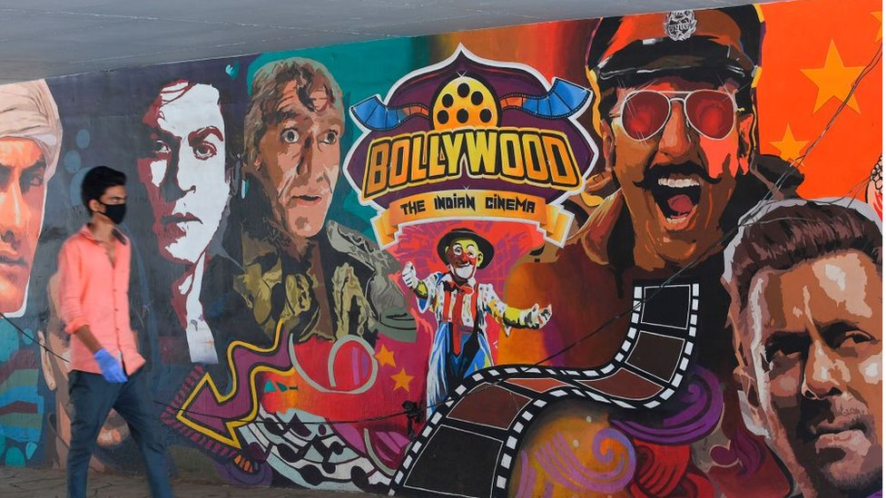 Bollywood mural in Mumbai
