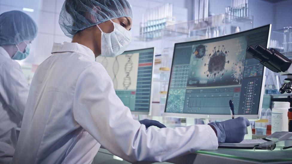 Investigadoras de coronavirus en el laboratorio