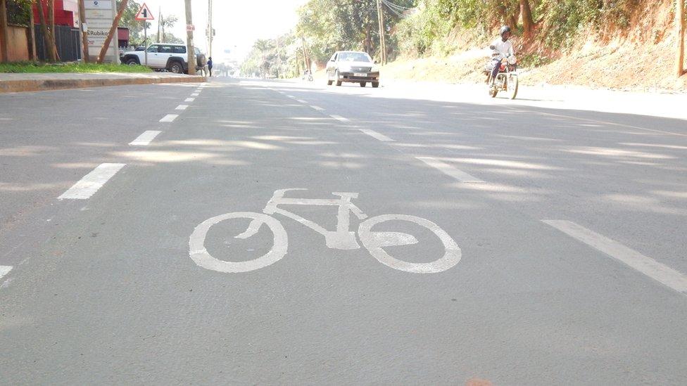 Carril para bicicletas.