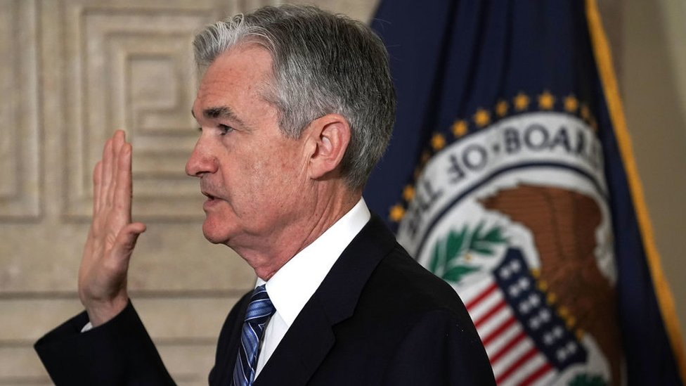 Jerome Powell was sworn in as the new chairman of the US Federal Reserve on Monday