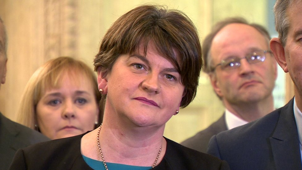 """DUP leader Arlene Foster says there """"isn't a deal yet"""""""