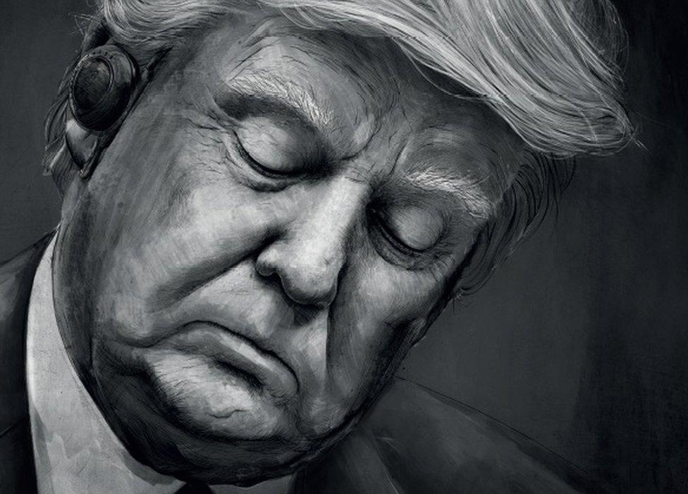 Un poster de Fritz-Kola con la imagen de Donald Trump