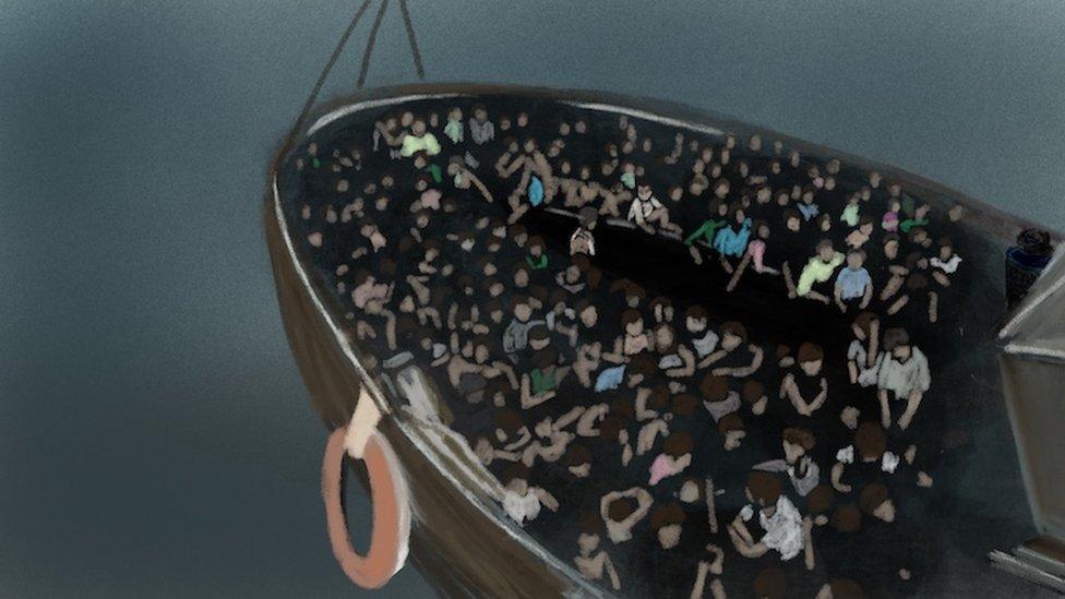 وعد المهربون من كانوا على متن السفينة بإيصالهم إلى ماليزيا