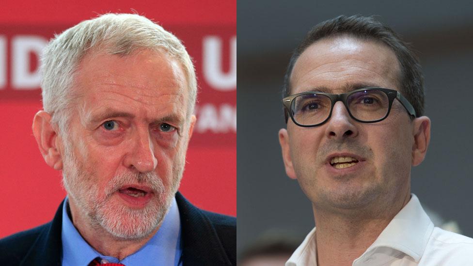 Jeremy Corbyn and Owen Smith