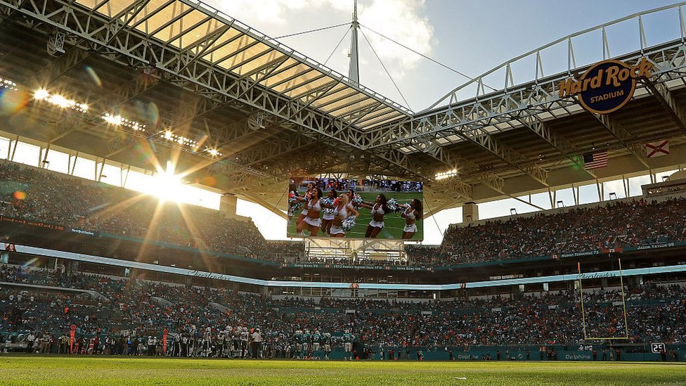 Una vista del Hard Rock Stadium