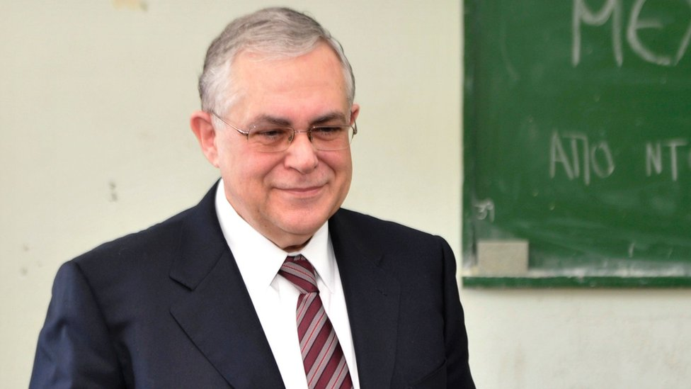Greek Prime Minister Lucas Papademos. Photo: 6 May 2012