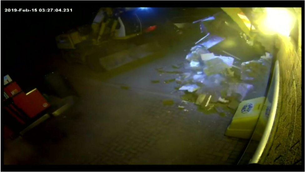 CCTV of cash machine robbery
