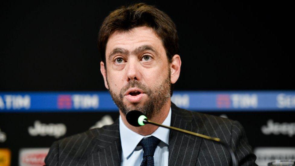 Andrea Agnelli es presidente del club de fútbol Juventus.
