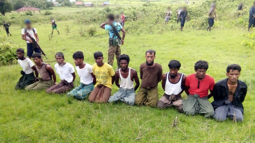 The 10 Rohingya men before they were killed at Inn Din