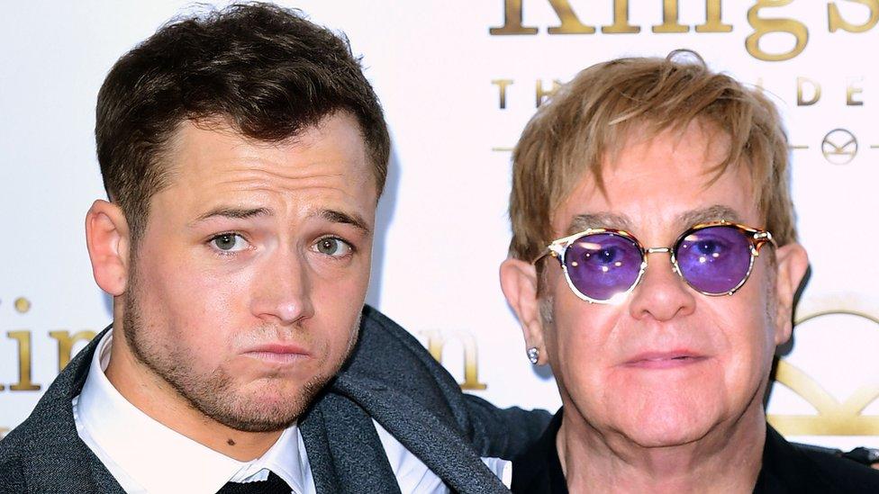 Taron Egerton (left) and Sir Elton John