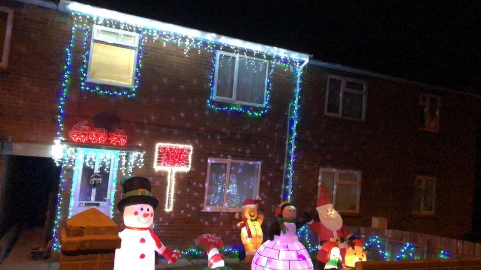 Christmas White House 2020 Yep Coronavirus: 'Christmas mad' mum put up lights early for smiles
