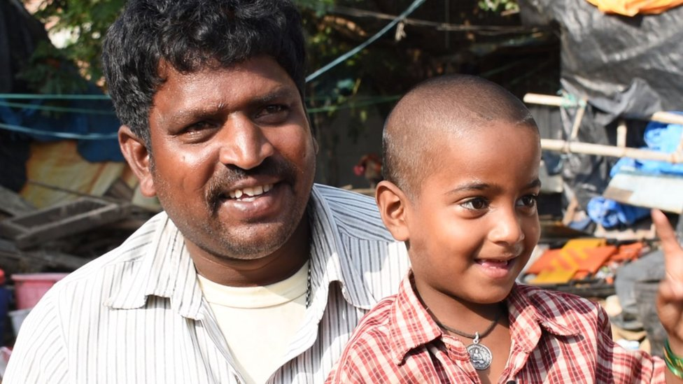 Divya with her father