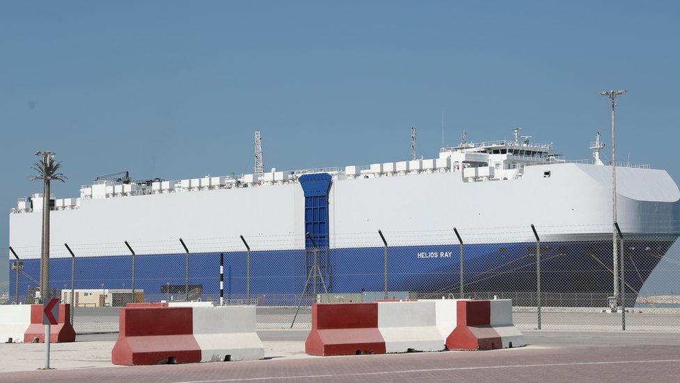 أصاب الانفجار السفينة الإسرائيلية إم في هيليوس راي
