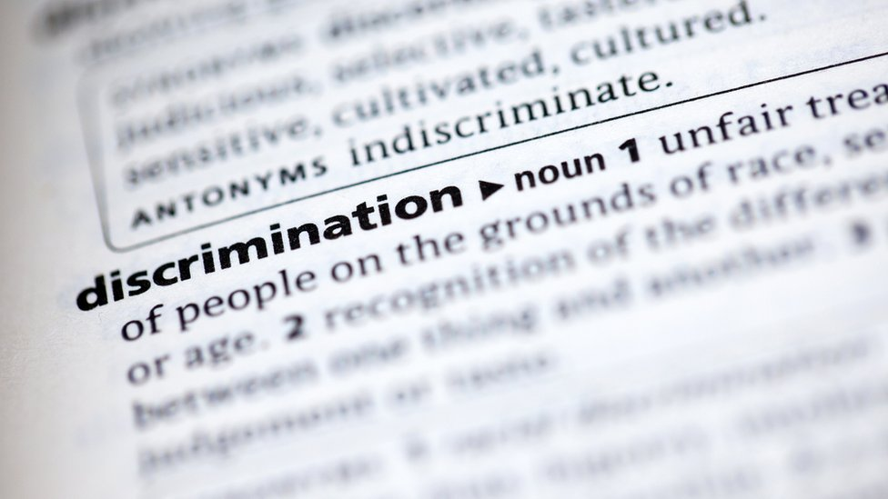 dictionary definition of word Discrimination