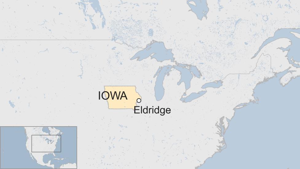 Map of Eldridge, Iowa