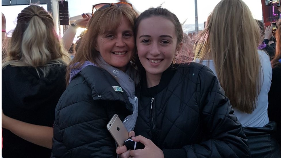 Marie and Mya Rushworth at One Love Manchester
