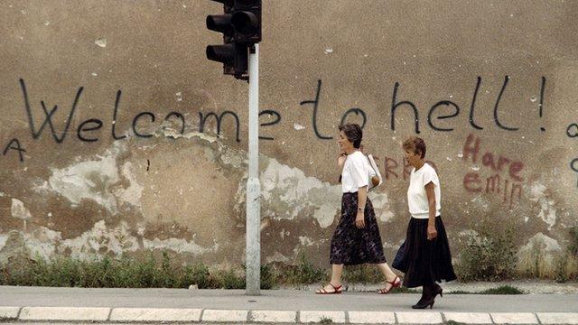 Sniper Alley in Sarajevo