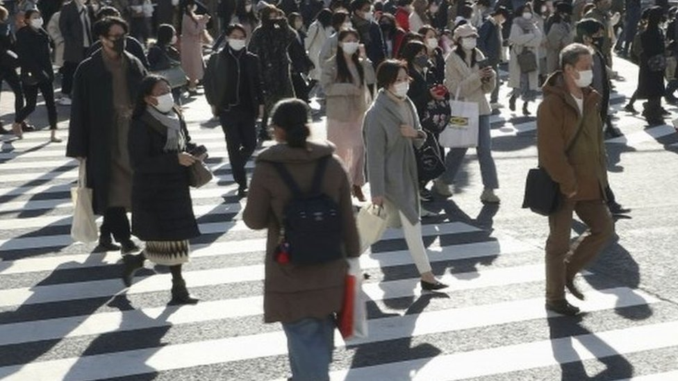 People walk on the streets of Tokyo, Japan. Photo: 26 December 2020