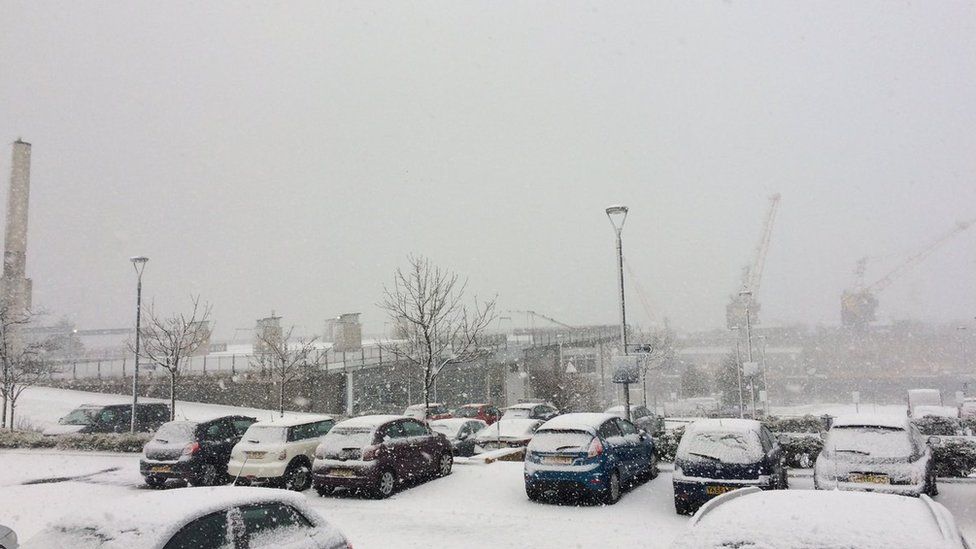 Snow in Sunderland