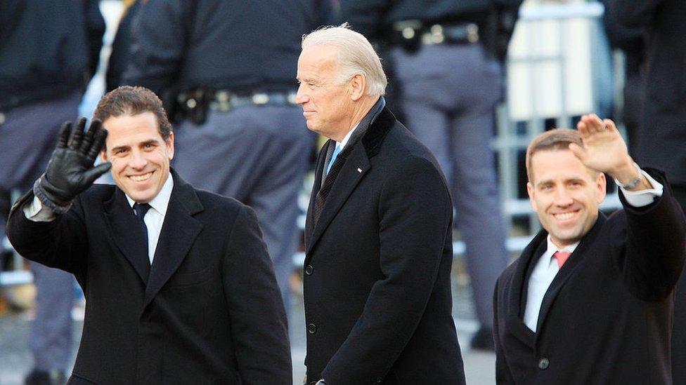 Biden y sus dos hijos