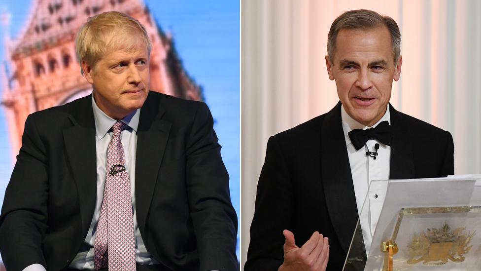 Boris Johnson and Mark Carney
