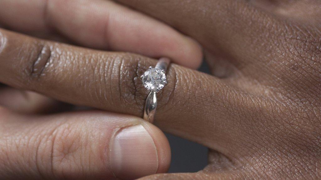 Manos y anillo