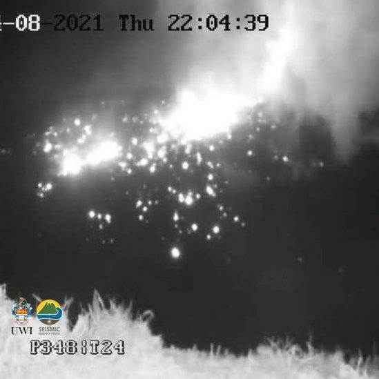 La actividad volcánica del Soufriere