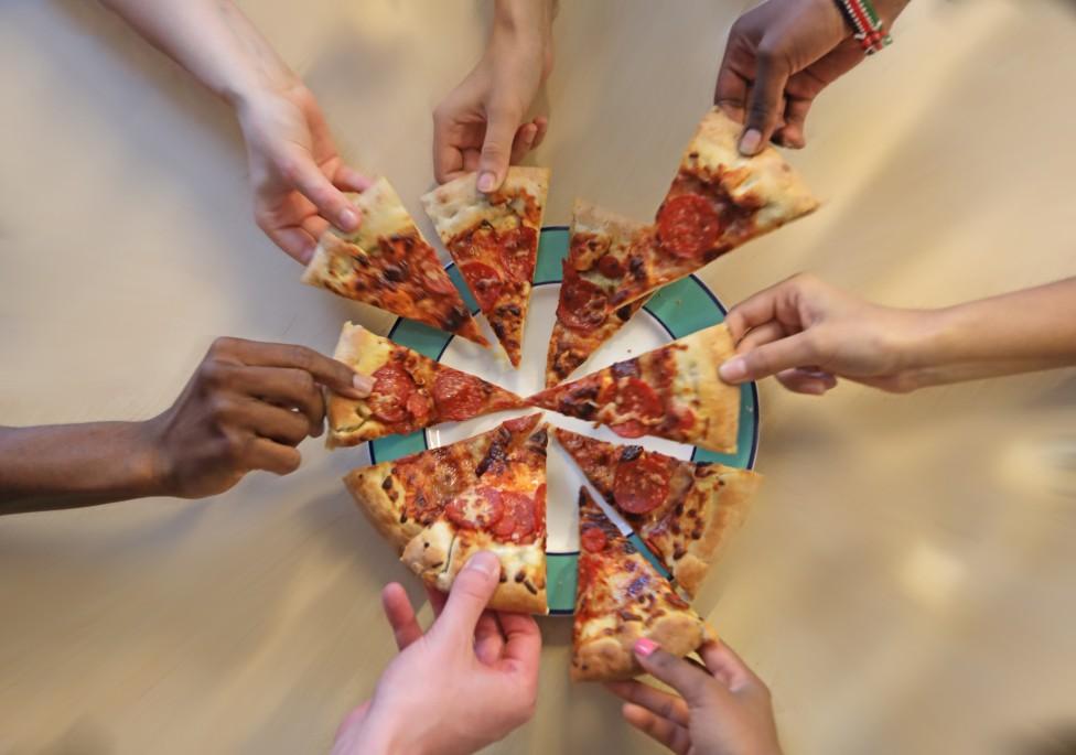 Trozos de pizza