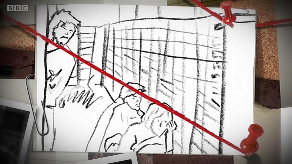 Dibujo de rehenes en bóveda