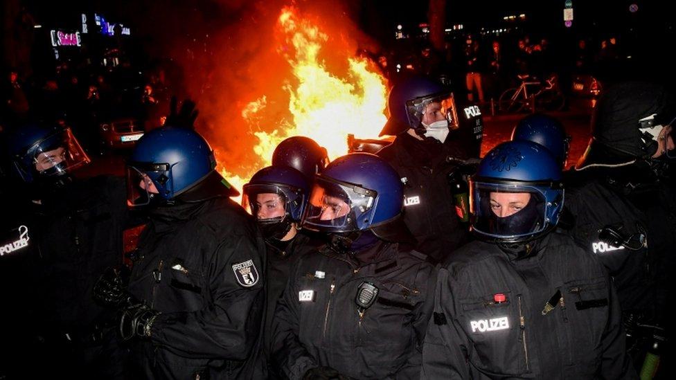 La policía antidisturbios alemana