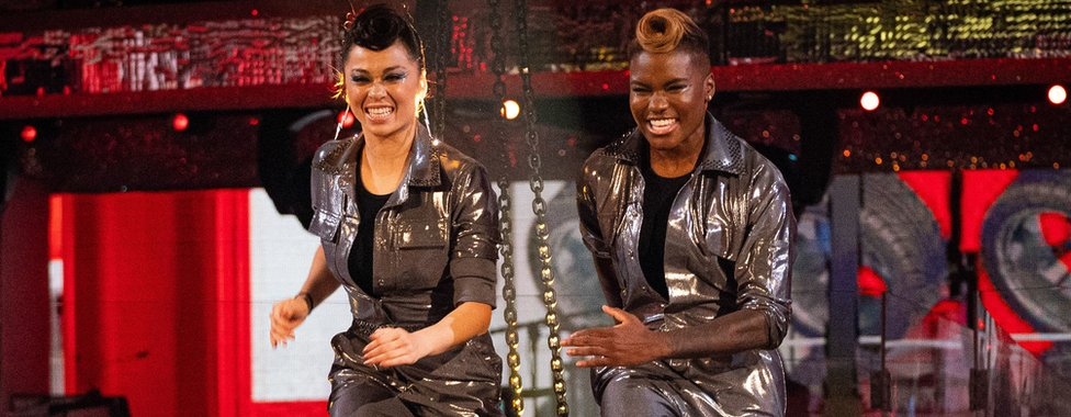 Katya Jones and Nicola Adams