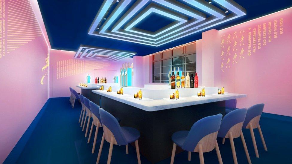 Johnnie Walker Princes Street sensory tasting room