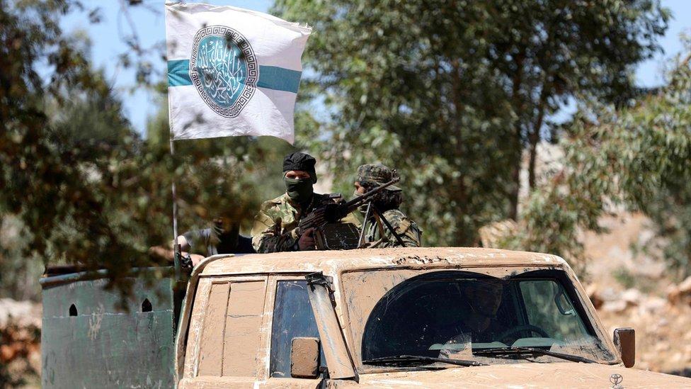 Miembros de la alianza del HTS.