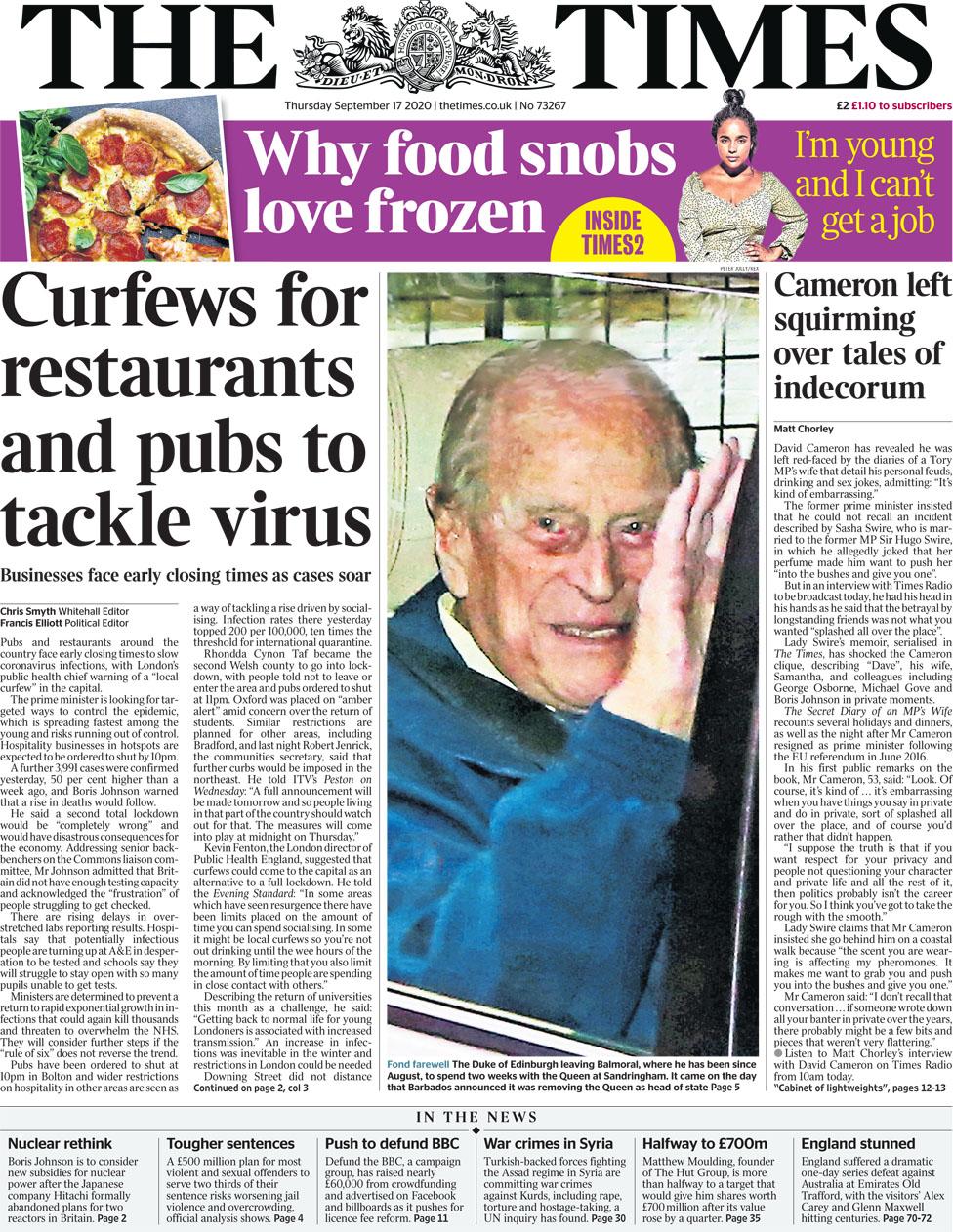The Times 17 September