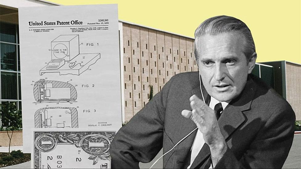 Copia de la patente y foto de Engelbart