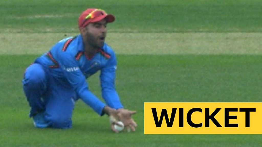 Cricket World Cup: Hashmatullah Shahidis catch for Afghanistan removes Bangladesh's Liton Das