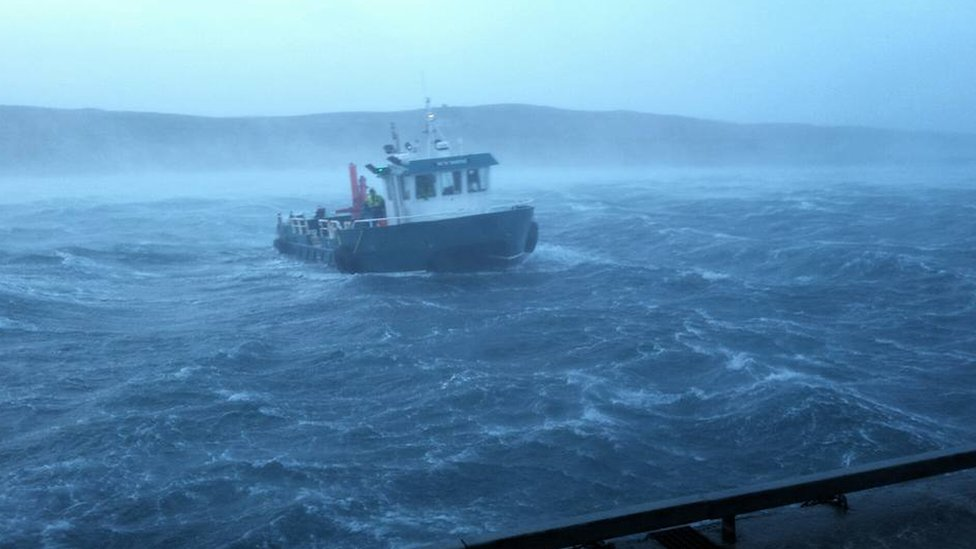 Stormy conditions in Shetland